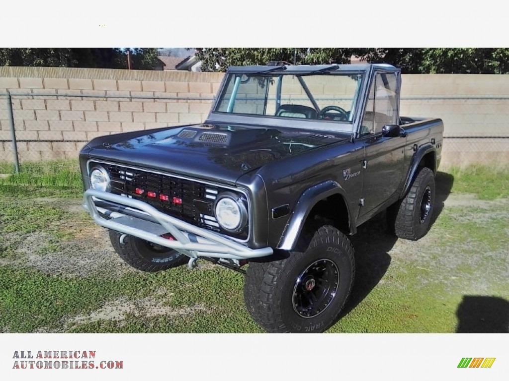 1971 Bronco Sport Wagon - Gun Metal Gray / Black photo #11