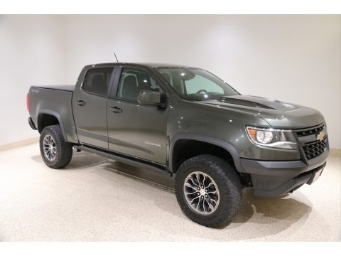 Deepwood Green Metallic 2018 Chevrolet Colorado ZR2 Crew Cab 4x4