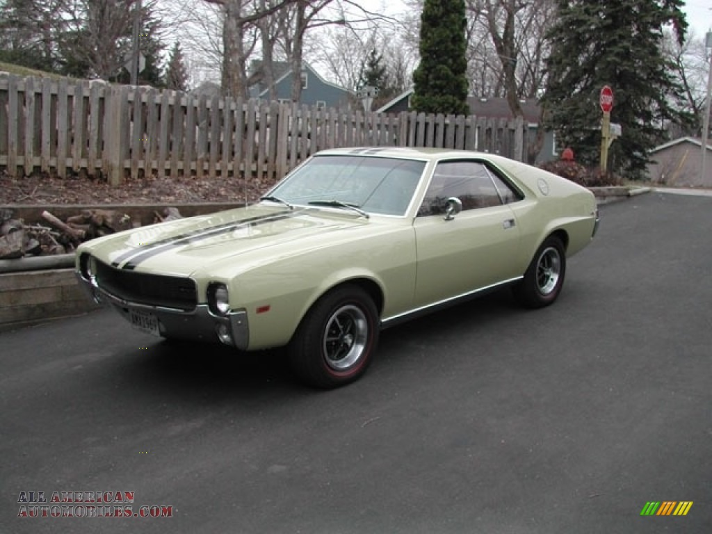 1969 AMX Coupe - Pompeii Yellow / Tan photo #1