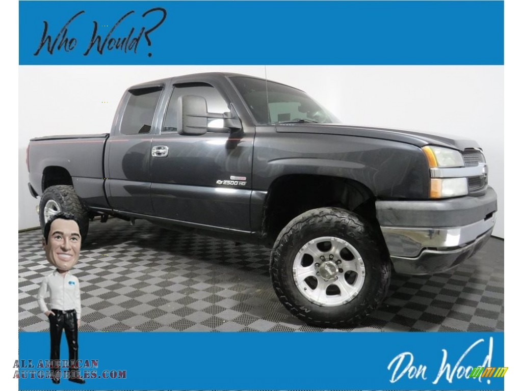 2004 Silverado 2500HD LS Extended Cab 4x4 - Dark Gray Metallic / Dark Charcoal photo #1