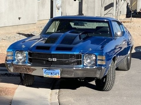 Blue 1971 Chevrolet Chevelle SS Coupe