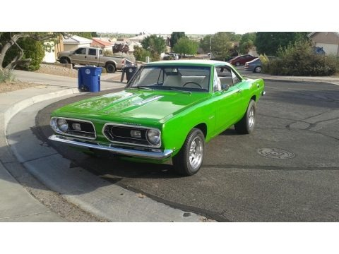 Sublime Green 1968 Plymouth Barracuda Hardtop
