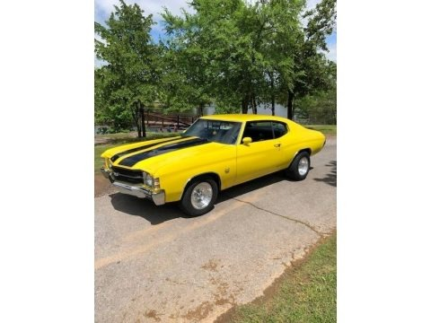 Yellow 1971 Chevrolet Chevelle SS Coupe