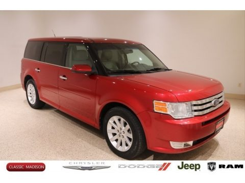 Red Candy Metallic 2010 Ford Flex SEL AWD