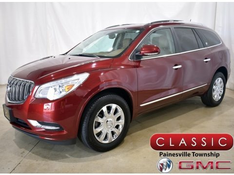 Crimson Red Tintcoat 2017 Buick Enclave Leather