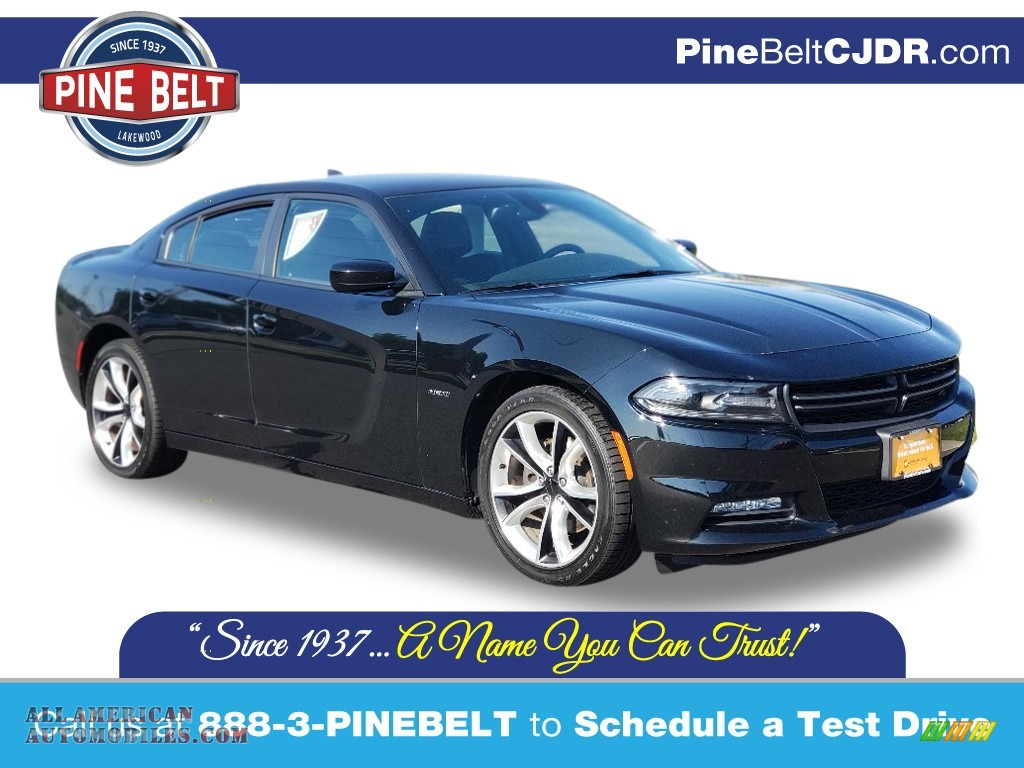 2016 Charger R/T - Pitch Black / Black photo #1