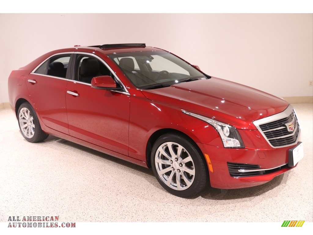 2017 ATS AWD - Red Obsession Tintcoat / Light Platinum w/Jet Black Accents photo #1