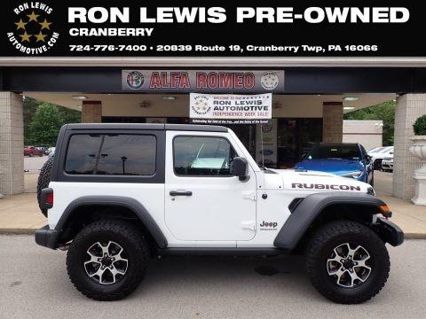 Bright White 2019 Jeep Wrangler Rubicon 4x4