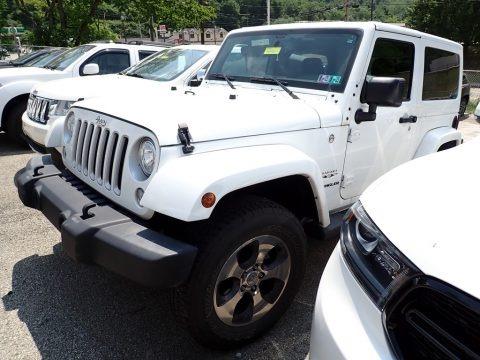 Bright White 2017 Jeep Wrangler Sahara 4x4