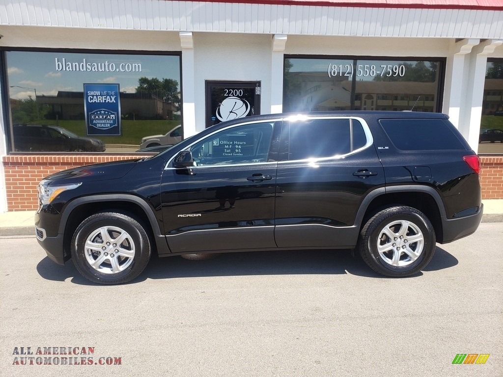 Ebony Twilight Metallic / Jet Black GMC Acadia SLE