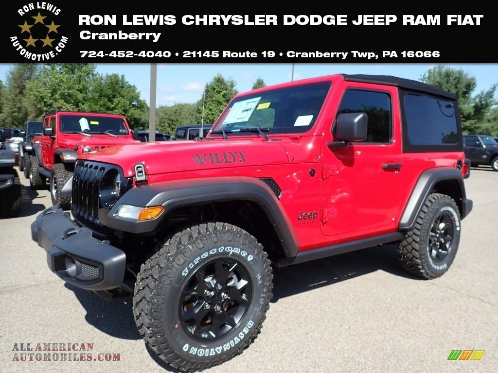 2020 Wrangler Willys 4x4 - Firecracker Red / Black photo #1