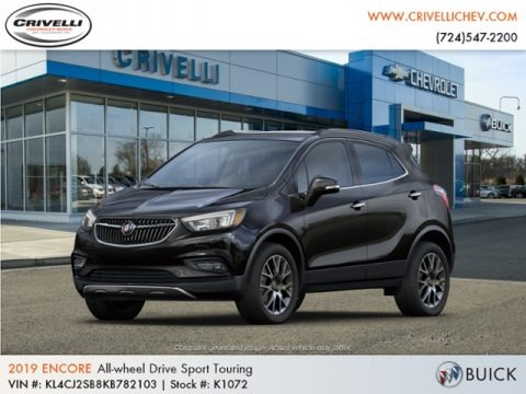Ebony Twilight Metallic 2019 Buick Encore Sport Touring AWD