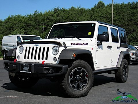 Bright White 2017 Jeep Wrangler Unlimited Rubicon Hard Rock 4x4