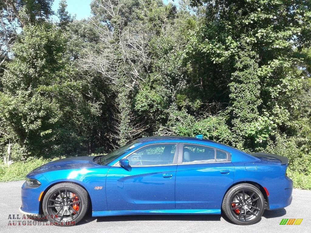 2020 Charger R/T Scat Pack - IndiGo Blue / Black/Ruby Red photo #1