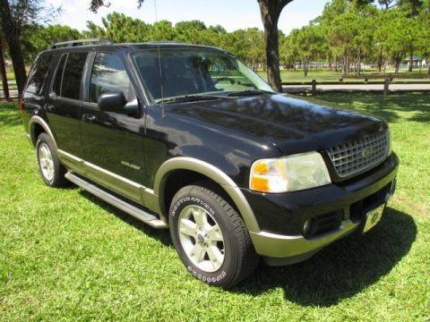 Black 2004 Ford Explorer Eddie Bauer 4x4