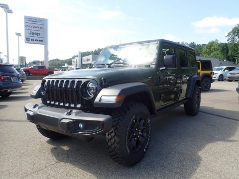 Sarge Green 2020 Jeep Wrangler Unlimited Willys 4x4