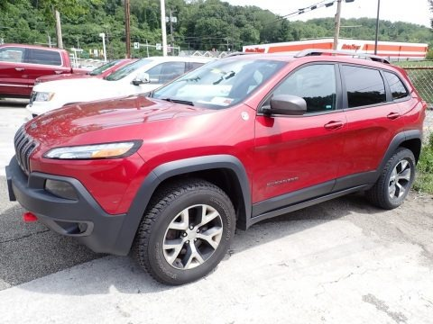 Deep Cherry Red Crystal Pearl 2014 Jeep Cherokee Trailhawk 4x4