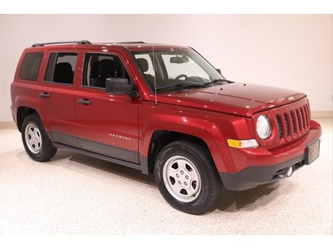 Deep Cherry Red Crystal Pearl 2016 Jeep Patriot Sport