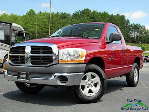 Inferno Red Crystal Pearl 2006 Dodge Ram 1500 ST Regular Cab