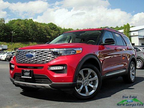 Rapid Red Metallic 2020 Ford Explorer Platinum 4WD
