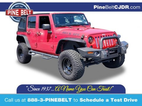 Flame Red 2008 Jeep Wrangler Unlimited X 4x4