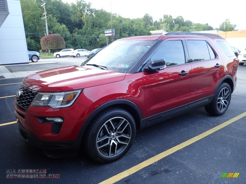 Ruby Red / Ebony Black Ford Explorer Sport 4WD