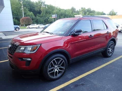 Ruby Red 2018 Ford Explorer Sport 4WD
