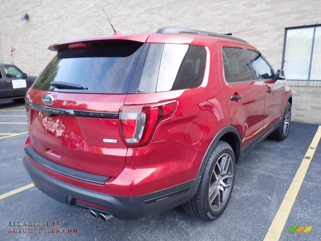 2018 Explorer Sport 4WD - Ruby Red / Ebony Black photo #4
