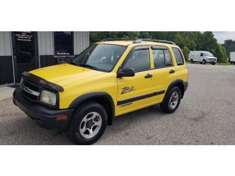 Yellow 2003 Chevrolet Tracker ZR2 4WD Hard Top
