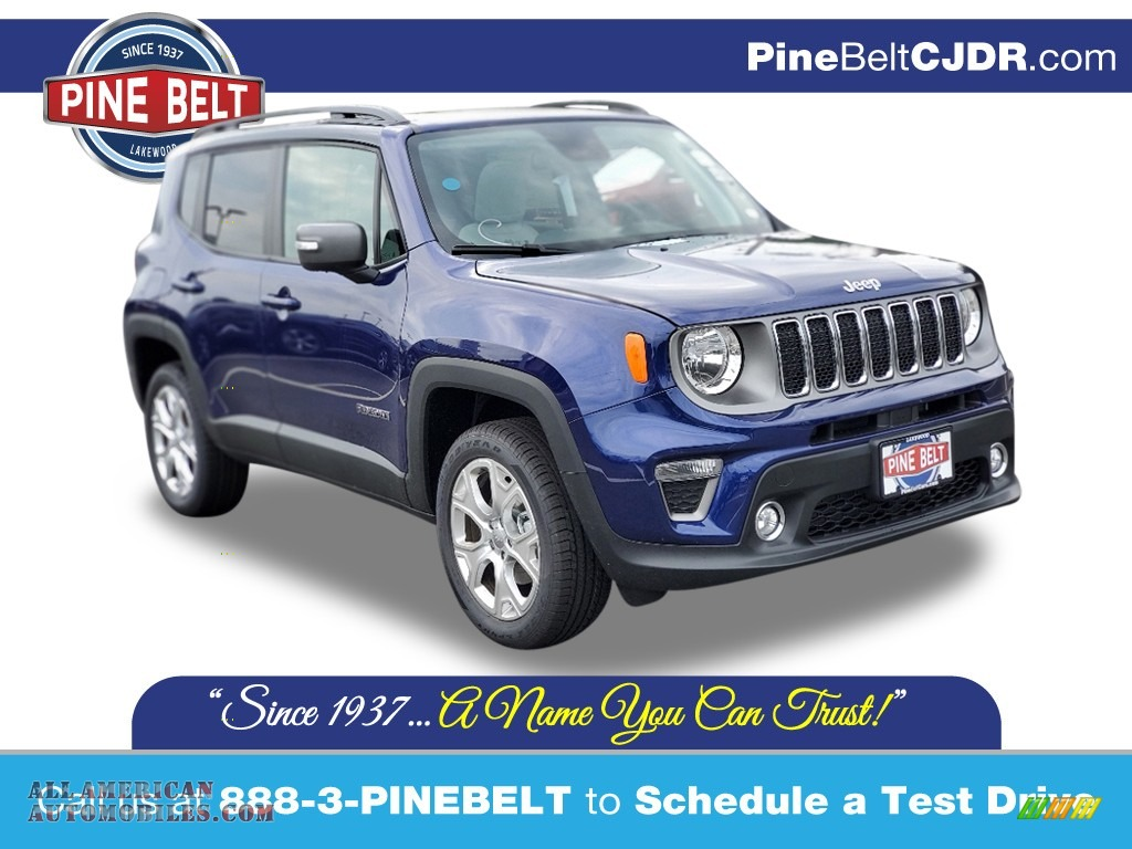 2020 Renegade Limited 4x4 - Jetset Blue / Ski Gray/Black photo #1