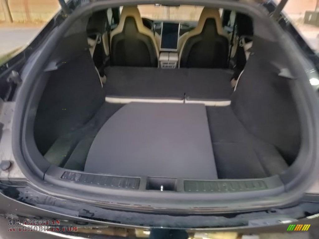 2015 Model S 90 - Solid Black / Tan photo #15