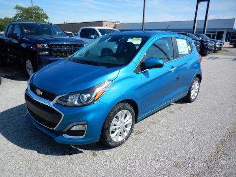 Caribbean Blue Metallic 2020 Chevrolet Spark LT