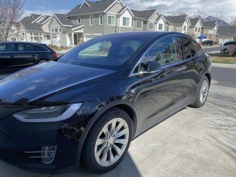 Solid Black 2018 Tesla Model X 75D