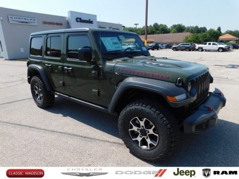 Sarge Green 2021 Jeep Wrangler Unlimited Rubicon 4x4