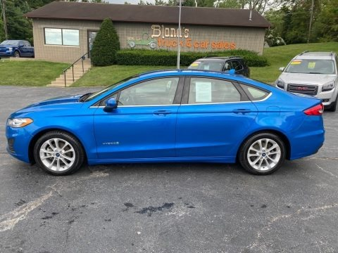 Velocity Blue 2019 Ford Fusion Hybrid SE