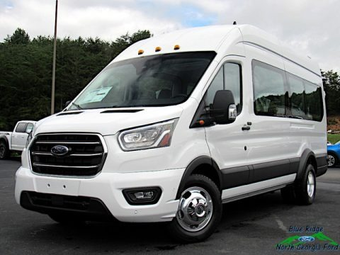 Oxford White 2020 Ford Transit Passenger Wagon XLT 350 HR Extended