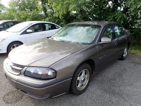Medium Bronzemist Metallic 2002 Chevrolet Impala LS
