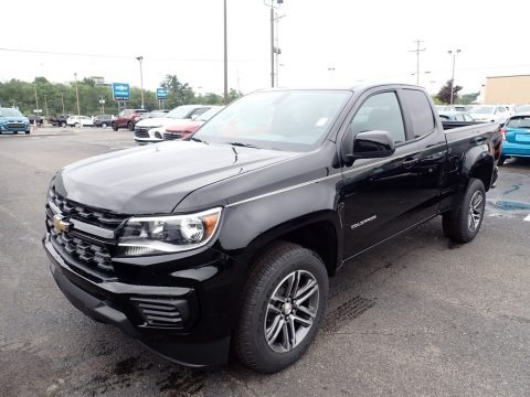 Black 2021 Chevrolet Colorado WT Extended Cab 4x4