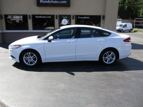 Oxford White 2018 Ford Fusion SE