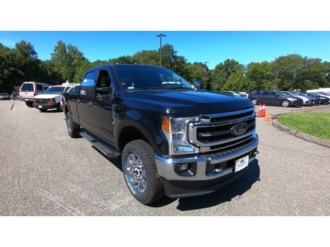 Agate Black 2020 Ford F350 Super Duty Lariat Crew Cab 4x4