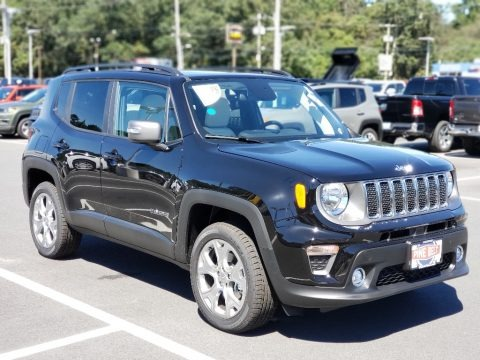 Black 2020 Jeep Renegade Limited 4x4
