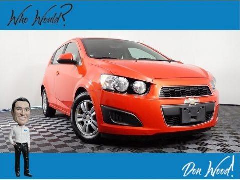 Inferno Orange Metallic 2012 Chevrolet Sonic LS Hatch