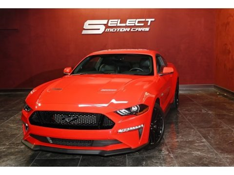 Race Red 2018 Ford Mustang GT Premium Fastback