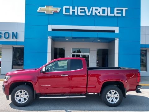 Cherry Red Tintcoat 2021 Chevrolet Colorado WT Extended Cab