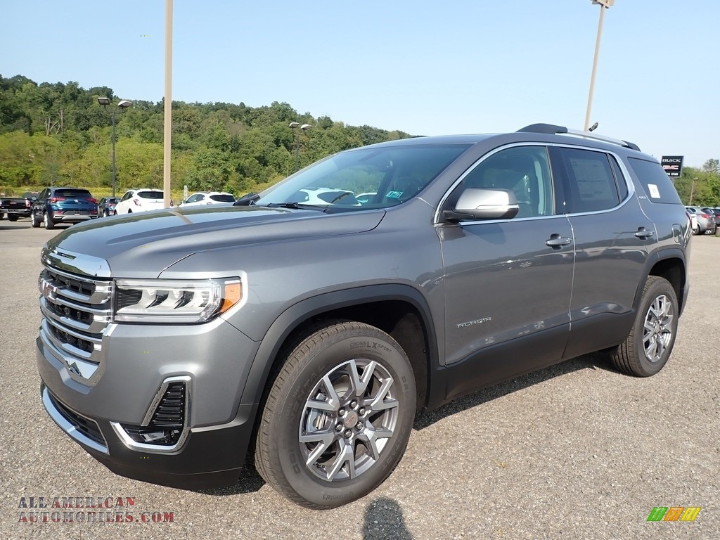 Satin Steel Metallic / Jet Black GMC Acadia SLT AWD
