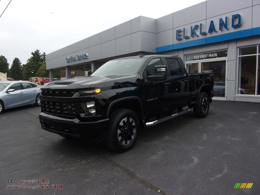 2020 Silverado 2500HD Custom Crew Cab 4x4 - Black / Jet Black photo #1