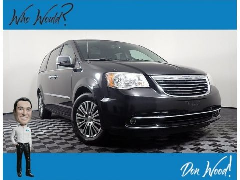 Brilliant Black Crystal Pearl 2013 Chrysler Town & Country Touring - L