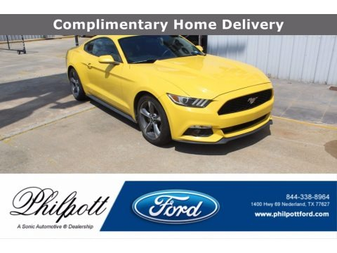 Triple Yellow Tricoat 2016 Ford Mustang V6 Coupe
