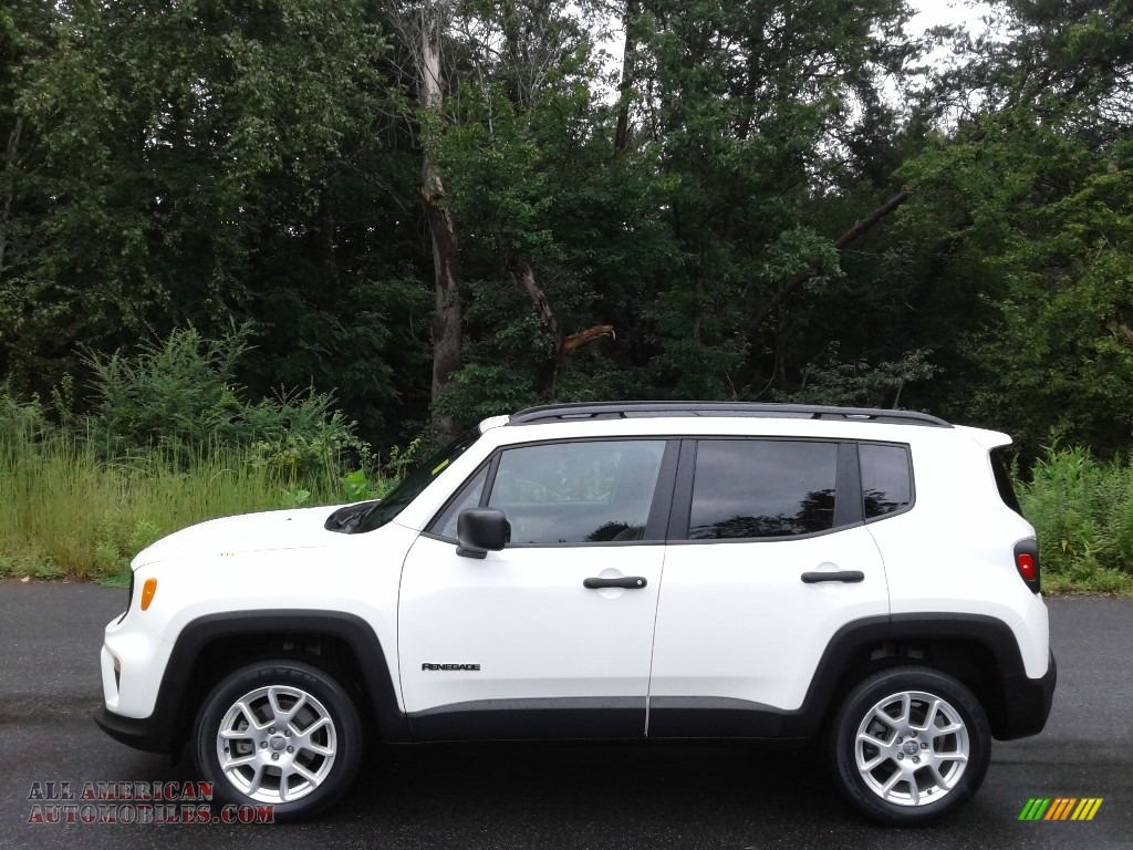 2019 Renegade Sport 4x4 - Alpine White / Black/Sandstorm photo #1