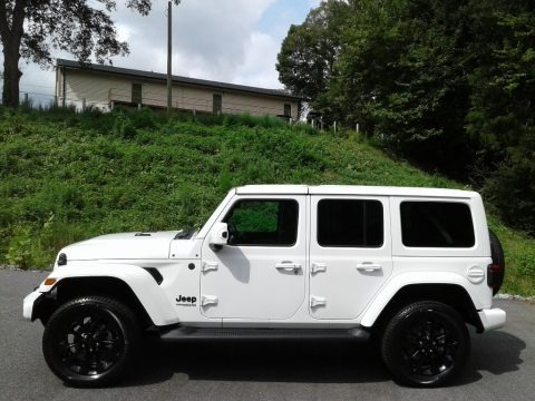 Bright White 2021 Jeep Wrangler Unlimited High Altitude 4x4